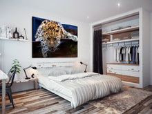 A100 Framed Canvas Print Colourful Modern Animal Wall Art - Orange Tiger Cool Big Cat-Canvas Print-WhatsOnYourWall