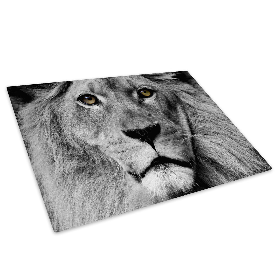 Grey Black Lion White Red Glass Chopping Board Kitchen Worktop Saver Protector - A103-Animal Chopping Board-WhatsOnYourWall