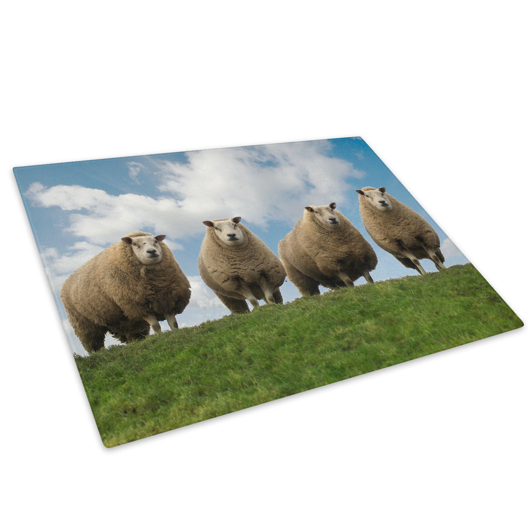 Green Blue Sky Ireland Glass Chopping Board Kitchen Worktop Saver Protector - A117-Animal Chopping Board-WhatsOnYourWall