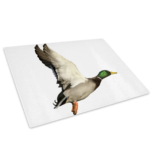 Green Grey Duck Fly Orange Glass Chopping Board Kitchen Worktop Saver Protector - A133-Animal Chopping Board-WhatsOnYourWall