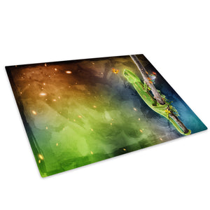 Chameleon Frog Abstract Glass Chopping Board Kitchen Worktop Saver Protector - A178-Animal Chopping Board-WhatsOnYourWall