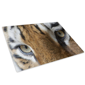 Tiger Eyes Orange Brown Glass Chopping Board Kitchen Worktop Saver Protector - A266