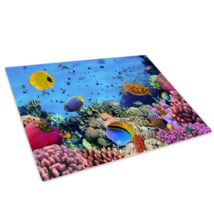 Ocean Sea Life Coral Reef Glass Chopping Board Kitchen Worktop Saver Protector - A343-Animal Chopping Board-WhatsOnYourWall