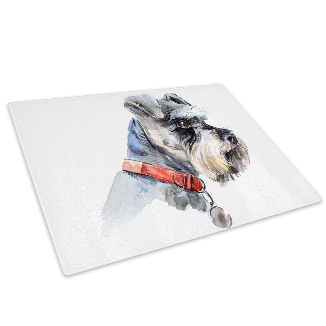Watercolour Jack Russell Glass Chopping Board Kitchen Worktop Saver Protector - A749-Animal Chopping Board-WhatsOnYourWall