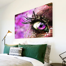 AB008 Framed Canvas Print Colourful Modern Abstract Wall Art - Pink Eye Feather-Canvas Print-WhatsOnYourWall