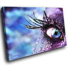 AB009 Framed Canvas Print Colourful Modern Abstract Wall Art - Blue Eye Feather-Canvas Print-WhatsOnYourWall