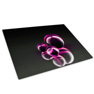 AB018 Framed Canvas Print Colourful Modern Abstract Wall Art -  3D Pink White Black - WhatsOnYourWall