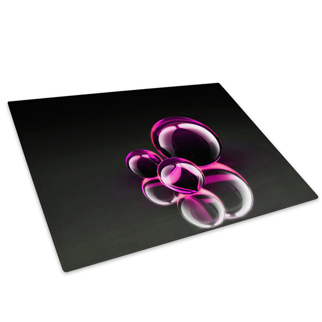 3D Pink White Black Glass Chopping Board Kitchen Worktop Saver Protector - AB018-Abstract Chopping Board-WhatsOnYourWall
