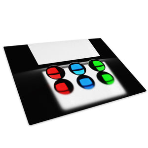 Red Blue Green Black Glass Chopping Board Kitchen Worktop Saver Protector - AB019-Abstract Chopping Board-WhatsOnYourWall