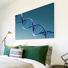 AB021 Framed Canvas Print Colourful Modern Abstract Wall Art - Blue Dna Framed 3D-Canvas Print-WhatsOnYourWall