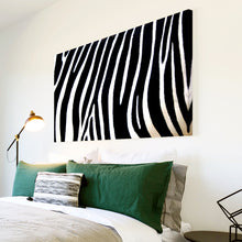 AB023 Framed Canvas Print Colourful Modern Abstract Wall Art - Black White Zebra Stripe-Canvas Print-WhatsOnYourWall