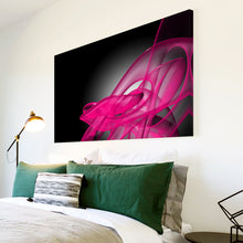AB035 Framed Canvas Print Colourful Modern Abstract Wall Art - Pink Black Grey 3D-Canvas Print-WhatsOnYourWall