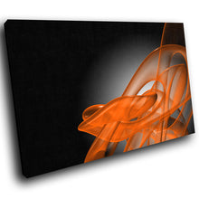 AB036 Framed Canvas Print Colourful Modern Abstract Wall Art - Orange 3D Black Grey-Canvas Print-WhatsOnYourWall