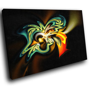AB043 Framed Canvas Print Colourful Modern Abstract Wall Art - Orange Green Graffiti-Canvas Print-WhatsOnYourWall