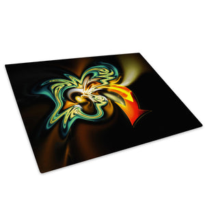 Orange Green Graffiti Glass Chopping Board Kitchen Worktop Saver Protector - AB043-Abstract Chopping Board-WhatsOnYourWall