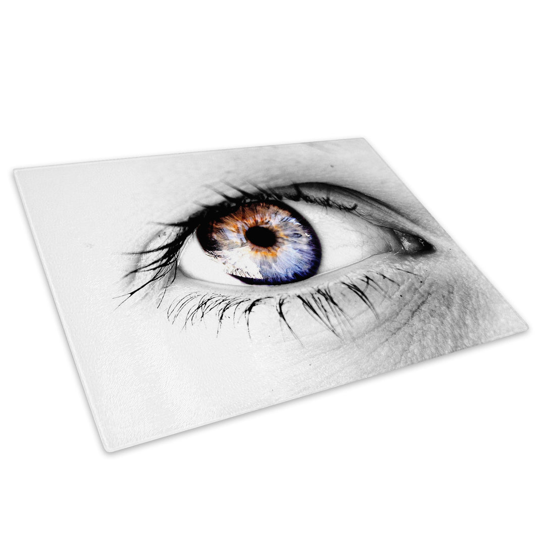 Blue Black White Eye Glass Chopping Board Kitchen Worktop Saver Protector - AB048-Abstract Chopping Board-WhatsOnYourWall