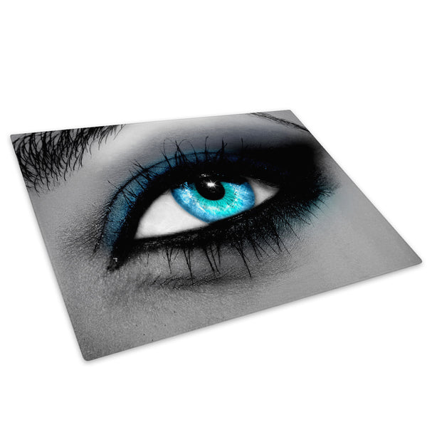 Blue Black White Eye Glass Chopping Board Kitchen Worktop Saver Protector - AB050-Abstract Chopping Board-WhatsOnYourWall