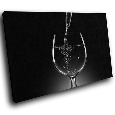 AB058 Framed Canvas Print Colourful Modern Abstract Wall Art -  Black White Wine Cool - WhatsOnYourWall