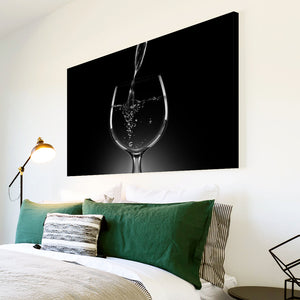 AB058 Framed Canvas Print Colourful Modern Abstract Wall Art - Black White Wine Cool-Canvas Print-WhatsOnYourWall