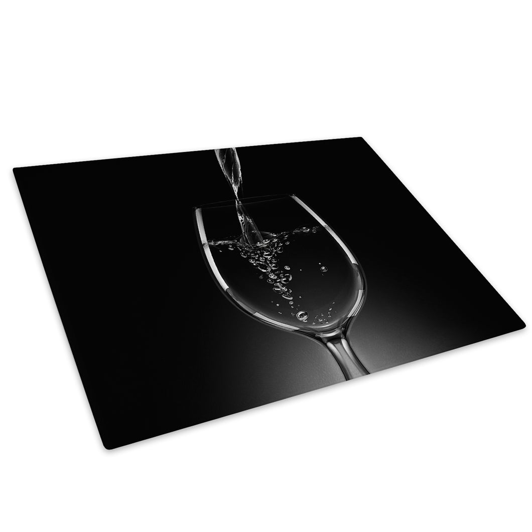 Black White Wine Cool Glass Chopping Board Kitchen Worktop Saver Protector - AB058-Abstract Chopping Board-WhatsOnYourWall