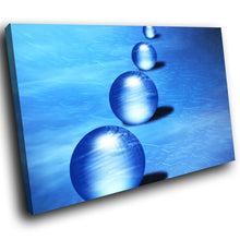 AB070 Framed Canvas Print Colourful Modern Abstract Wall Art -  Blue Balls Circles - WhatsOnYourWall