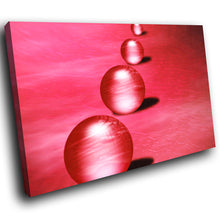 AB071 Framed Canvas Print Colourful Modern Abstract Wall Art - Red Balls Circles-Canvas Print-WhatsOnYourWall