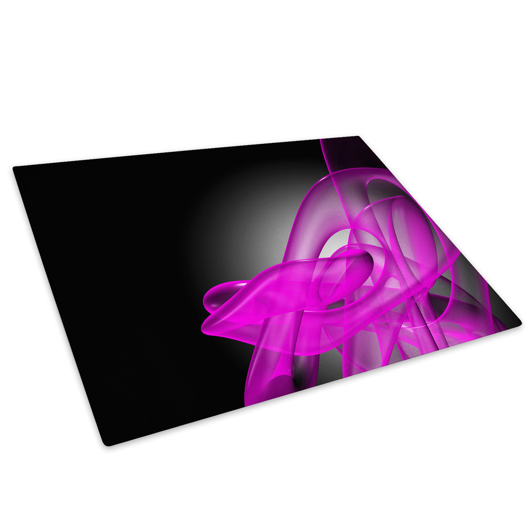 Pink Black 3D Swirl Glass Chopping Board Kitchen Worktop Saver Protector - AB073-Abstract Chopping Board-WhatsOnYourWall
