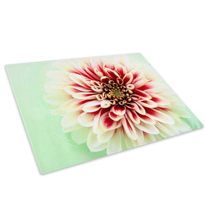 Red Green Flowers Glass Chopping Board Kitchen Worktop Saver Protector - AB081-Abstract Chopping Board-WhatsOnYourWall