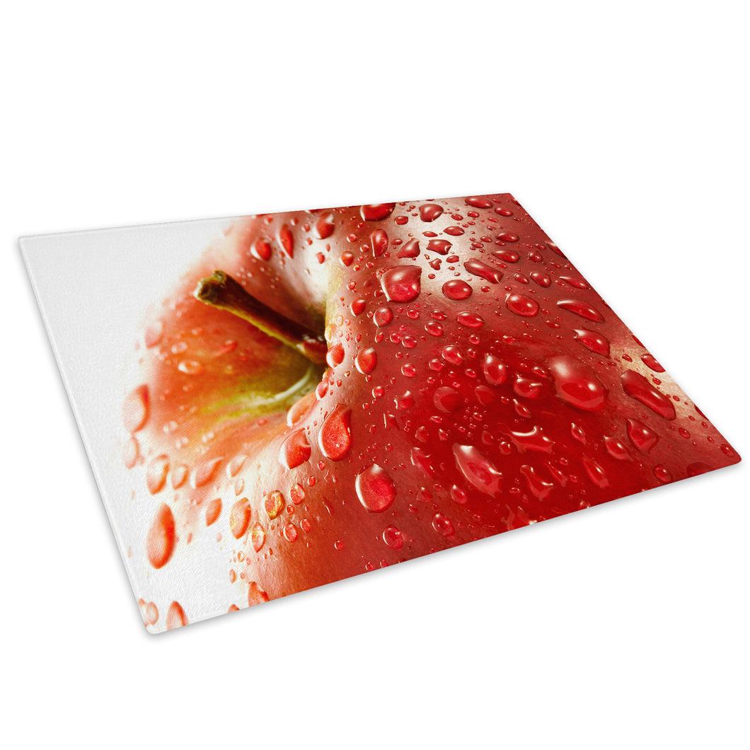 Red Apple Fruit Cool Glass Chopping Board Kitchen Worktop Saver Protector - AB091-Abstract Chopping Board-WhatsOnYourWall
