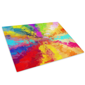 Colourful Pink Glass Chopping Board Kitchen Worktop Saver Protector - AB1004-Abstract Chopping Board-WhatsOnYourWall