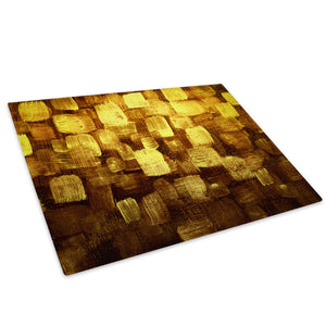 Yellow Brown Glass Chopping Board Kitchen Worktop Saver Protector - AB1013-Abstract Chopping Board-WhatsOnYourWall