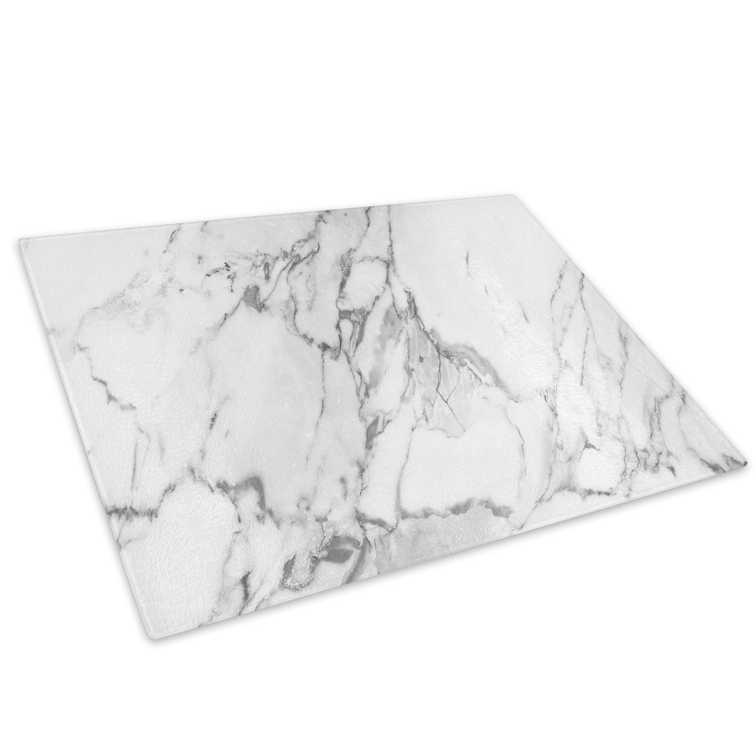 Marble White Glass Chopping Board Kitchen Worktop Saver Protector - AB1014