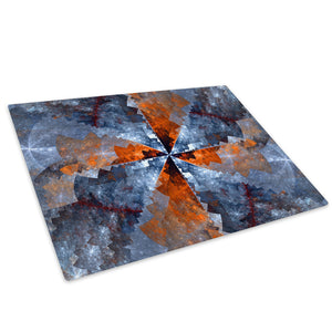 Orange Blue Glass Chopping Board Kitchen Worktop Saver Protector - AB1018-Abstract Chopping Board-WhatsOnYourWall