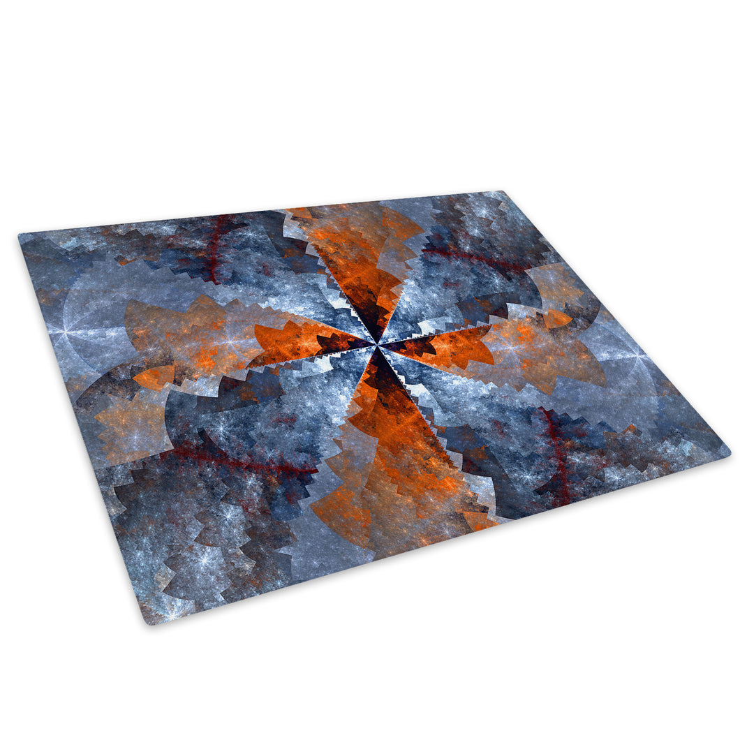 Orange Blue Glass Chopping Board Kitchen Worktop Saver Protector - AB1018