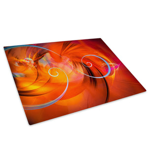 Orange Red Glass Chopping Board Kitchen Worktop Saver Protector - AB1019-Abstract Chopping Board-WhatsOnYourWall