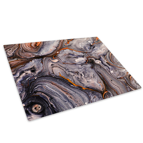 Orange Black White Glass Chopping Board Kitchen Worktop Saver Protector - AB1026-Abstract Chopping Board-WhatsOnYourWall