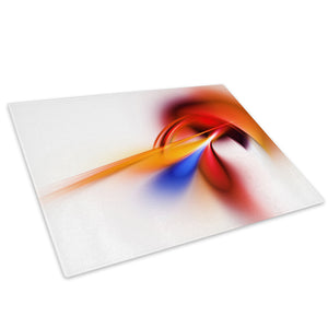 Orange Red Glass Chopping Board Kitchen Worktop Saver Protector - AB1050