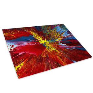 Red Blue Pink Glass Chopping Board Kitchen Worktop Saver Protector - AB1058-Abstract Chopping Board-WhatsOnYourWall