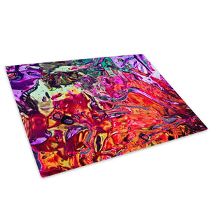 Colourful Glass Chopping Board Kitchen Worktop Saver Protector - AB1063-Abstract Chopping Board-WhatsOnYourWall