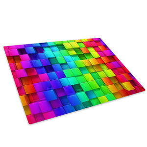 Rainbow Colourful Glass Chopping Board Kitchen Worktop Saver Protector - AB1105-Abstract Chopping Board-WhatsOnYourWall