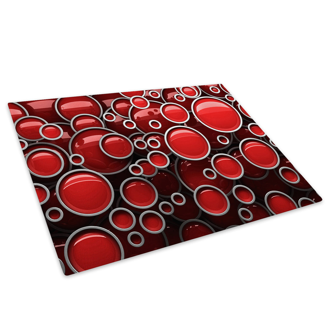 Red Black Chic Glass Chopping Board Kitchen Worktop Saver Protector - AB1109-Abstract Chopping Board-WhatsOnYourWall