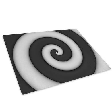 White Black Glass Chopping Board Kitchen Worktop Saver Protector - AB1128-Abstract Chopping Board-WhatsOnYourWall