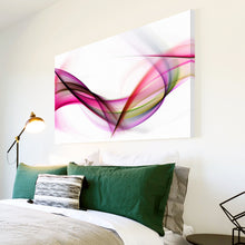 AB112 Framed Canvas Print Colourful Modern Abstract Wall Art - Pink White Purple Wave-Canvas Print-WhatsOnYourWall