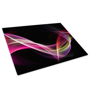 Pink Purple Black Wave Glass Chopping Board Kitchen Worktop Saver Protector - AB113-Abstract Chopping Board-WhatsOnYourWall