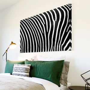AB115 Framed Canvas Print Colourful Modern Abstract Wall Art - Black White Zebra Stripe-Canvas Print-WhatsOnYourWall
