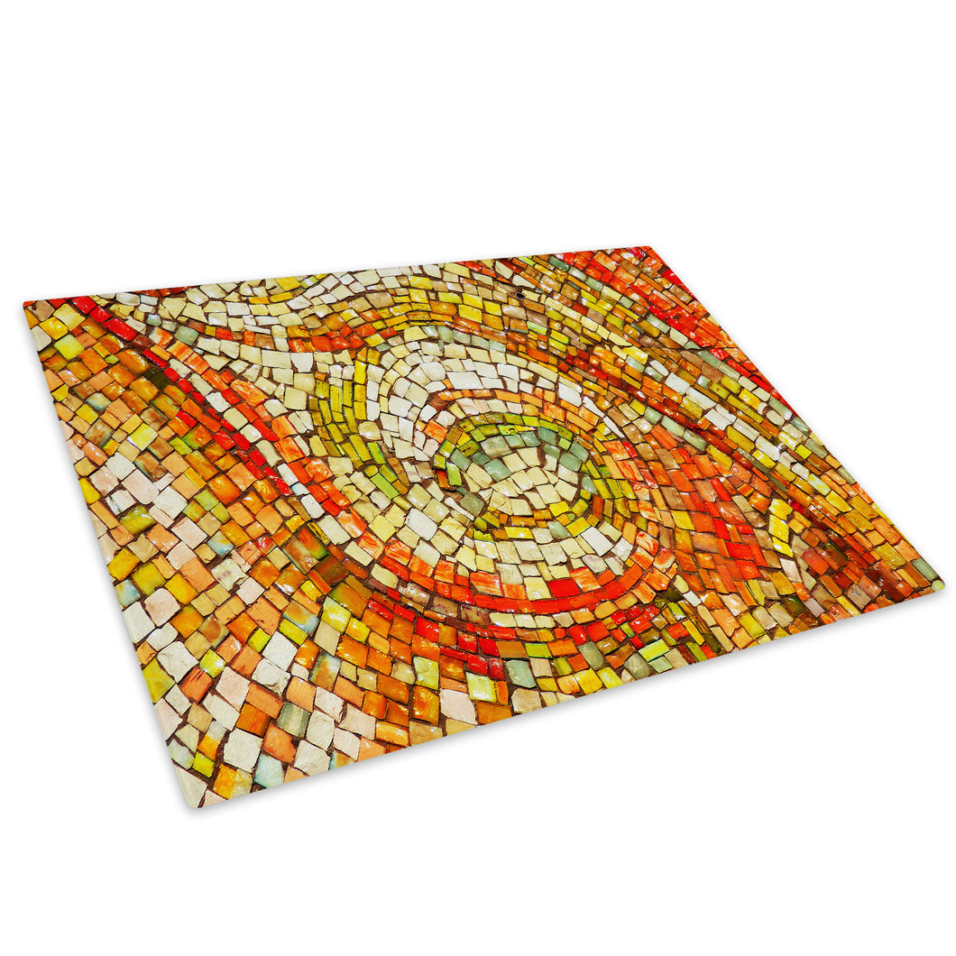 Orange Green Glass Chopping Board Kitchen Worktop Saver Protector - AB1186-Abstract Chopping Board-WhatsOnYourWall