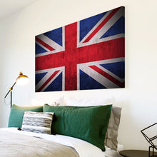 AB118 Framed Canvas Print Colourful Modern Abstract Wall Art - Red Blue White Union Jack-Canvas Print-WhatsOnYourWall