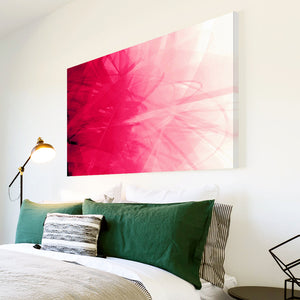 AB127 Framed Canvas Print Colourful Modern Abstract Wall Art - Pink Swirl Living Room-Canvas Print-WhatsOnYourWall
