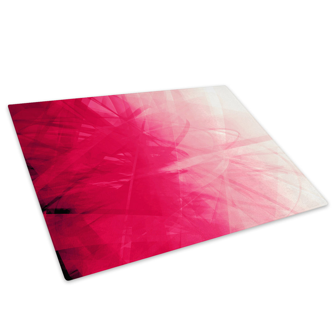 Pink Swirl Living Room Glass Chopping Board Kitchen Worktop Saver Protector - AB127-Abstract Chopping Board-WhatsOnYourWall