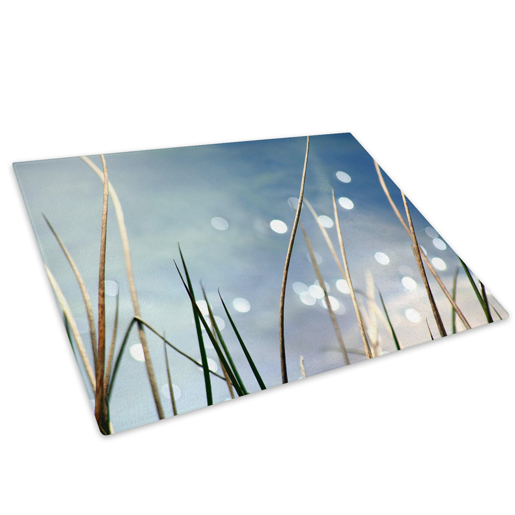 Flower Blue Sky Cool Glass Chopping Board Kitchen Worktop Saver Protector - AB129-Abstract Chopping Board-WhatsOnYourWall